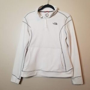 The North Face Women's White Pullover Snap Collar